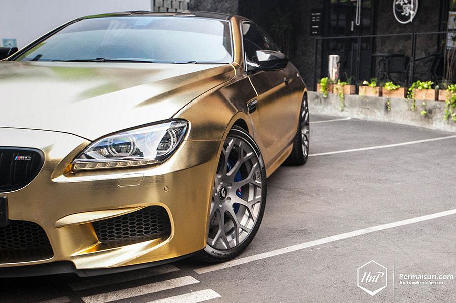 Golden Six Bmw M6 On Forgiato