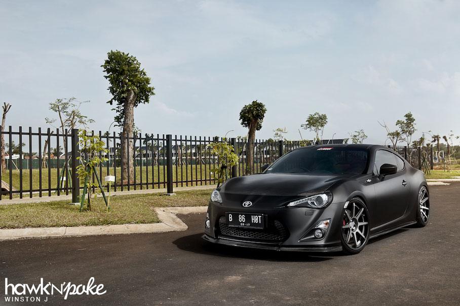 Matte Grey Car >> True Black // Matte Black GT86 on BC Forged
