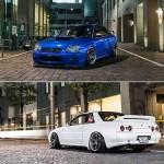 Iconic JDM Duo // Hikaru's R32 GT-R and Kenzi's STI S203 on TE37SL